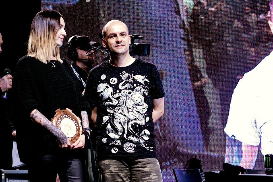 Konwent Łódź tattoo days 2019 nagroda na scenie dla Moniki Ochman