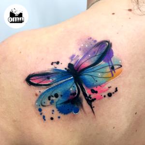 Popularne motywy - tatuaż akwarelowy ważki