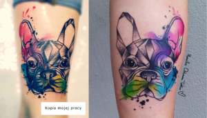 Kopia mojego tatuażu buldoga